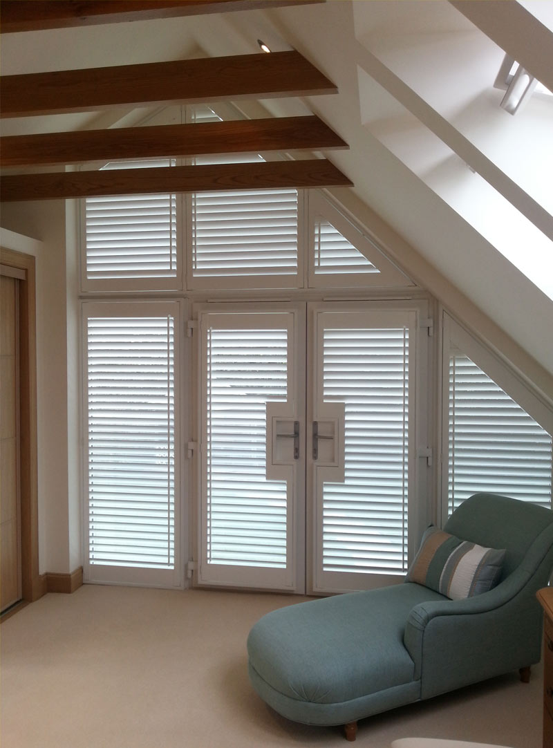 triangle window shutters