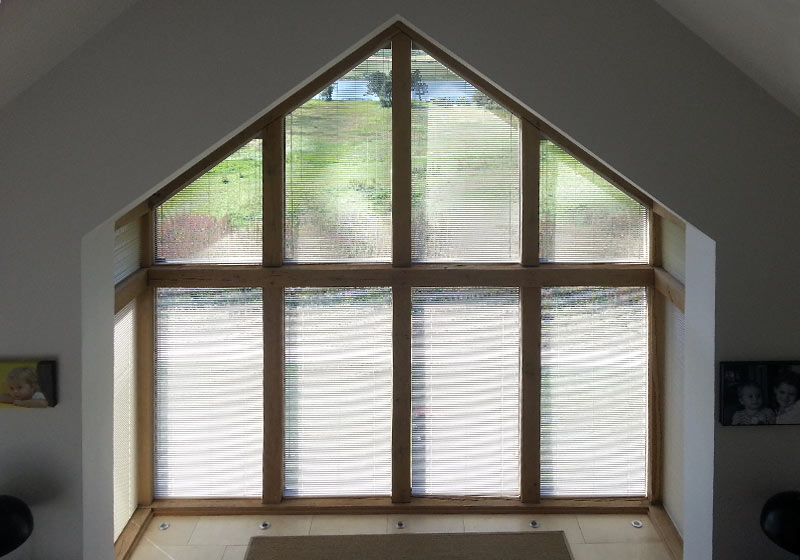 triangle window blinds
